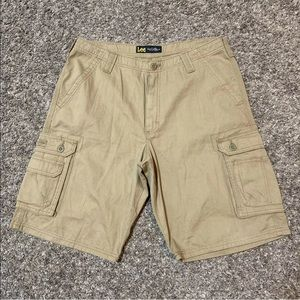 Lee Dungarees Men's 34 Cargo Pocket Shorts Brown